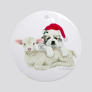 Great Pyrenees Puppy & Lamb Ornament